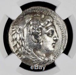 Alexander III the Great Silver Greek Tetradrachm NGC XF fine style