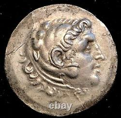 Alexander The Great 188-170BC TEMNOS Ancient Greek Silver Tetradrachm 16.3g 34mm