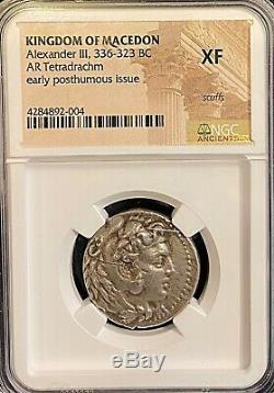 Alexander the Great 323/17BC Babylon Ancient Silver Tetradrachm NGC XF 17.12g
