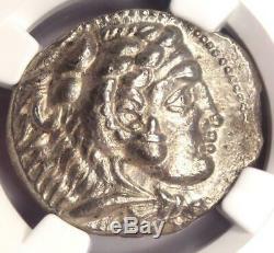 Alexander the Great AR Tetradrachm Coin 336-323 BC Certified NGC AU Nice