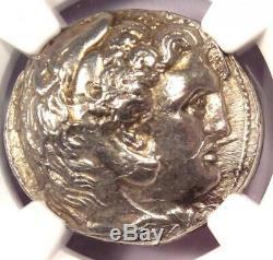 Alexander the Great AR Tetradrachm Coin 336-323 BC Certified NGC Choice AU