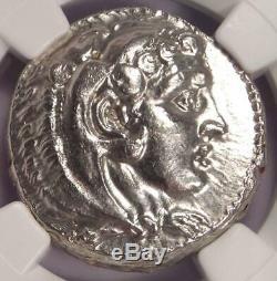 Alexander the Great AR Tetradrachm Coin 336-323 BC, Lifetime NGC Choice AU
