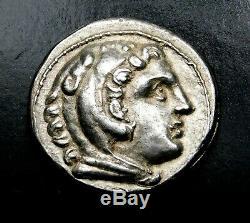 Alexander the Great. Beautiful Stunning Tetradrachm. Ancient Greek Silver Coin