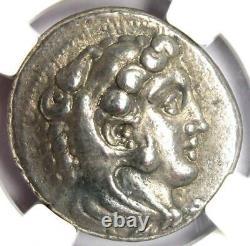 Alexander the Great III AR Tetradrachm 336 BC NGC XF Rare Lifetime Issue