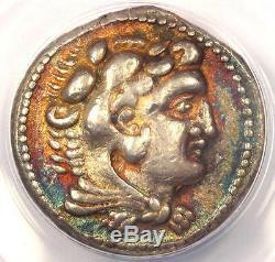 Alexander the Great III AR Tetradrachm Coin 325-324 BC Ake. ANACS XF40 Rainbow