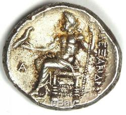 Alexander the Great III AR Tetradrachm Coin 336-323 BC AU Condition