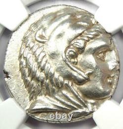 Alexander the Great III AR Tetradrachm Coin 336-323 BC Certified NGC AU