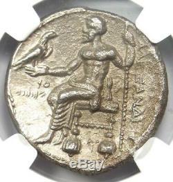 Alexander the Great III AR Tetradrachm Coin 336-323 BC Certified NGC Choice VF