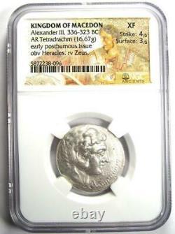 Alexander the Great III AR Tetradrachm Coin 336-323 BC Certified NGC XF (EF)