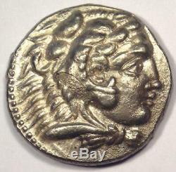 Alexander the Great III AR Tetradrachm Coin 336-323 BC Nice AU Condition