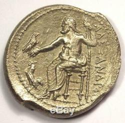 Alexander the Great III AR Tetradrachm Coin 336-323 BC XF Condition (EF)