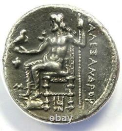Alexander the Great III AR Tetradrachm Silver Coin 325-323 BC ANACS VF35