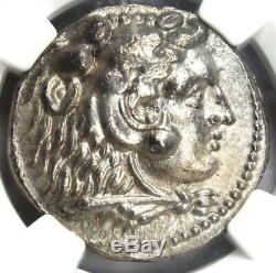 Alexander the Great III AR Tetradrachm Silver Coin 336-323 BC Certified NGC AU