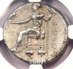 Alexander the Great III AR Tetradrachm Silver Coin 336-323 BC Certified NGC VF