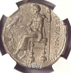 Alexander the Great III AR Tetradrachm Silver Coin 336-323 BC Certified NGC XF