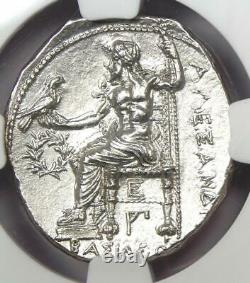 Alexander the Great III AR Tetradrachm Silver Coin 336-323 BC NGC MS (UNC)