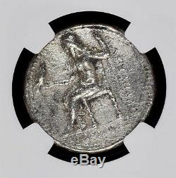 Alexander the Great Silver Greek Tetradrachm NGC XF fine style, brushed
