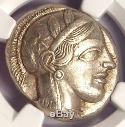 Ancient Athens Athena Owl Tetradrachm Coin 440-404 BC NGC Choice XF, Test Cut