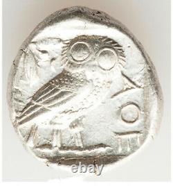 Ancient Athens Greece Athena Owl Tetradrachm AR Silver Coin 440-404 BC Ch XF