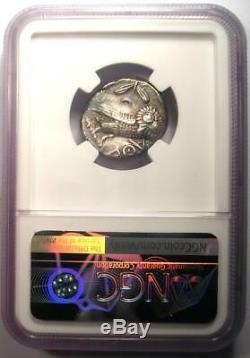 Ancient Athens Greece Athena Owl Tetradrachm Coin (393-294 BC) NGC Choice XF