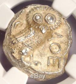 Ancient Athens Greece Athena Owl Tetradrachm Coin (393-294 BC) NGC MS (UNC)