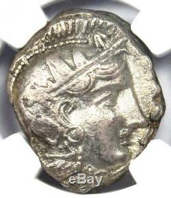 Ancient Athens Greece Athena Owl Tetradrachm Coin (393-294 BC) NGC XF (EF)