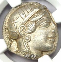 Ancient Athens Greece Athena Owl Tetradrachm Coin 440-404 BC Certified NGC AU