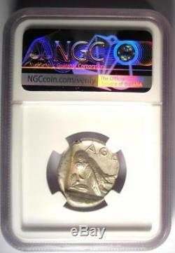 Ancient Athens Greece Athena Owl Tetradrachm Coin (440-404 BC) NGC AU
