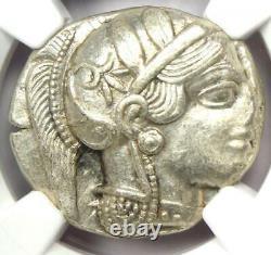 Ancient Athens Greece Athena Owl Tetradrachm Coin (440-404 BC) NGC AU