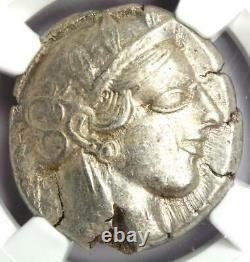 Ancient Athens Greece Athena Owl Tetradrachm Coin 440-404 BC NGC Ch XF, Test Cut