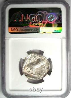 Ancient Athens Greece Athena Owl Tetradrachm Coin (440-404 BC) NGC Choice Fine