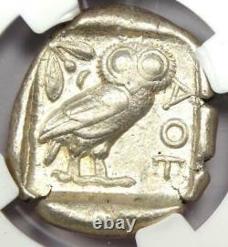 Ancient Athens Greece Athena Owl Tetradrachm Coin (440-404 BC) NGC Choice VF