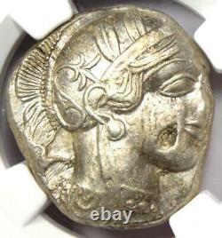 Ancient Athens Greece Athena Owl Tetradrachm Coin (440-404 BC) NGC Choice XF