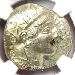 Ancient Athens Greece Athena Owl Tetradrachm Coin (440-404 BC) NGC MS (UNC)