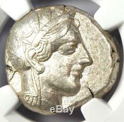 Ancient Athens Greece Athena Owl Tetradrachm Coin (440-404 BC) NGC VF