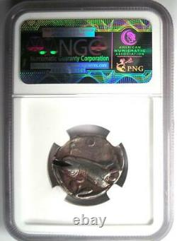 Ancient Athens Greece Athena Owl Tetradrachm Coin (440-404 BC) NGC VF, Test Cut