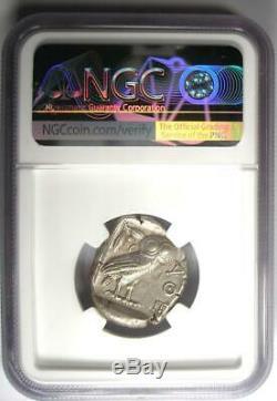 Ancient Athens Greece Athena Owl Tetradrachm Coin (440-404 BC) NGC XF (EF)