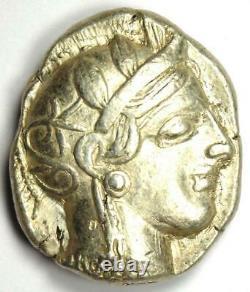 Ancient Athens Greece Athena Owl Tetradrachm Coin (454-404 BC) AU Condition