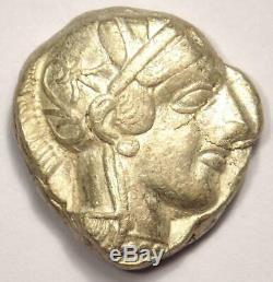 Ancient Athens Greece Athena Owl Tetradrachm Coin (454-404 BC) Choice VF