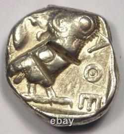 Ancient Athens Greece Athena Owl Tetradrachm Coin (454-404 BC) Fine Condition