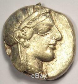 Ancient Athens Greece Athena Owl Tetradrachm Coin (454-404 BC) Nice VF