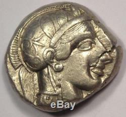 Ancient Athens Greece Athena Owl Tetradrachm Coin (454-404 BC) XF (Extra Fine)