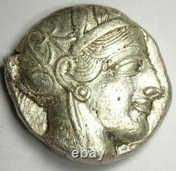 Ancient Athens Greece Athena Owl Tetradrachm Coin (454-404 BC). XF with Test Cut
