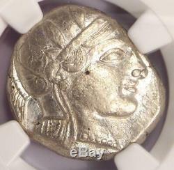 Ancient Athens Greece Athena Owl Tetradrachm Coin (455-440 BC) NGC XF