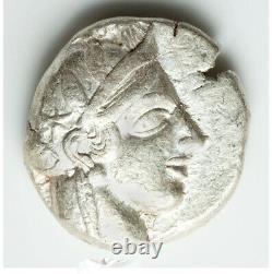 Ancient Athens Greece Athena Owl Tetradrachm Silver Coin 440-404 BC Choice XF