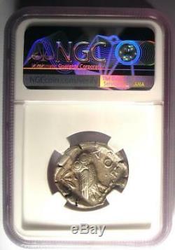 Ancient Athens Greece Athena Owl Tetradrachm Silver Coin (440-404 BC) NGC AU