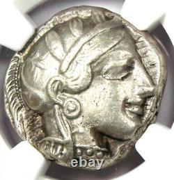 Ancient Athens Greece Athena Owl Tetradrachm Silver Coin (440-404 BC) NGC XF