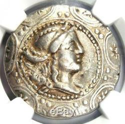 Ancient Celts Lower Danube First Meris AR Tetradrachm Coin 100 BC. NGC Choice VF