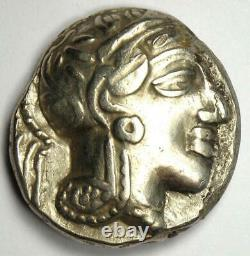 Ancient Egypt Athena Owl Tetradrachm Silver Coin (400 BC) Good VF / XF
