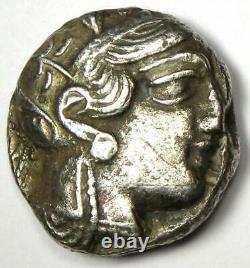 Ancient Egypt Athena Owl Tetradrachm Silver Coin (400 BC) VF (Very Fine)